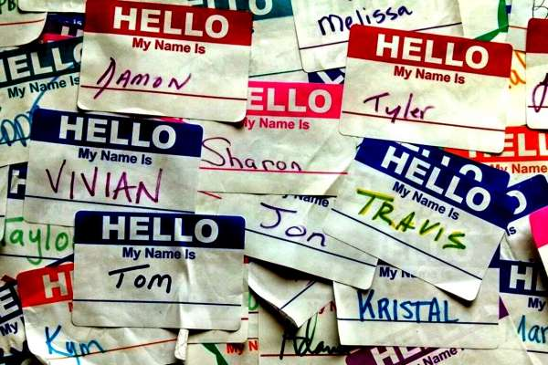 Hello My Name Is tag with different names