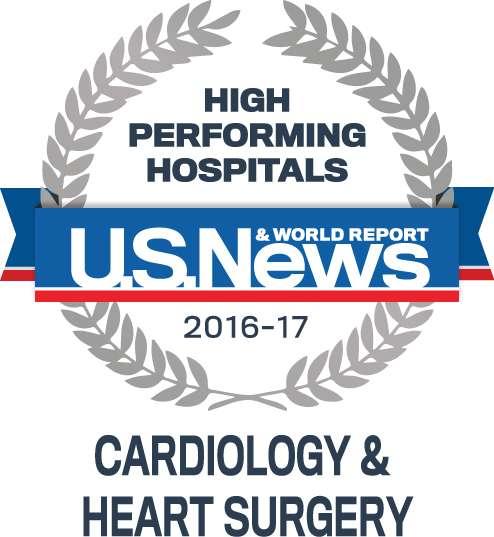 US News High Performing Hospital Seal