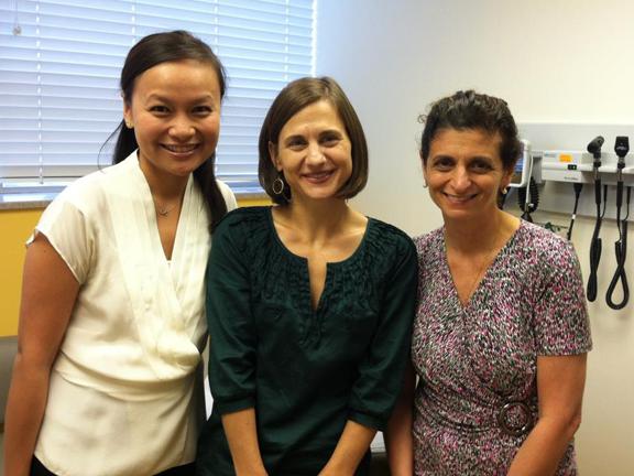 Three women in medical room