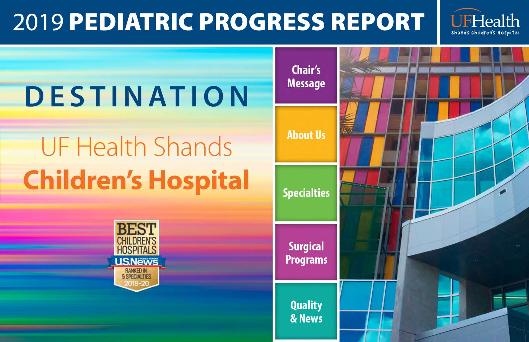 2019 Pediatric Progress Report Cover