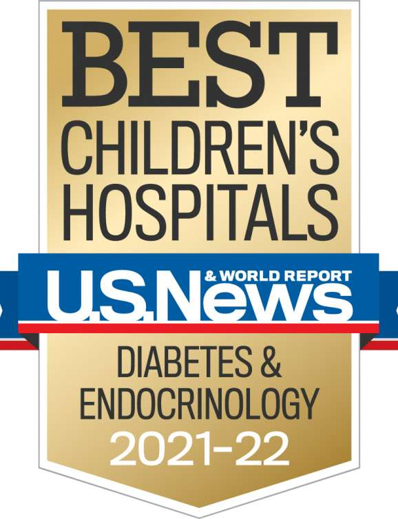 U.S. News Best Children's Hospital Diabetes and Endocrinology 2021-2022